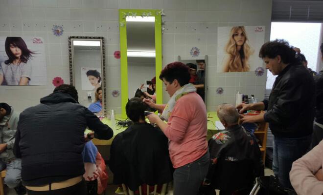 Improvisierter Friseursalon - Foto privat