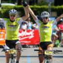 Transalp winners Markus Kaufmann (GER) and Jochen Kaess (GER)_Finish Craft BIKE transalp powered by Sigma 2013_Stage 8 Rovereto-Riva del Garda, 38.55km, 1,269 metres in elevation gain – (c) Henning Angerer/Craft BIKE Transalp