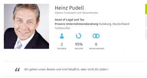 """Heinz Pudell arbeitet seit 23 Jahren """"Head of Legal and Tax"""" bei der Provero Unternehmensberatung"""