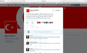 –Külünk Aufruf DITIB Causa Böhmermann Quelle: Screenshot Hüseyin Topel BU: Der AKP-Abgeordnete Metin Külünk fordert DITIB-Mitglieder auf, gegen das ZDF und damit den Satiriker Böhmermann Strafanzeige zu stellen.