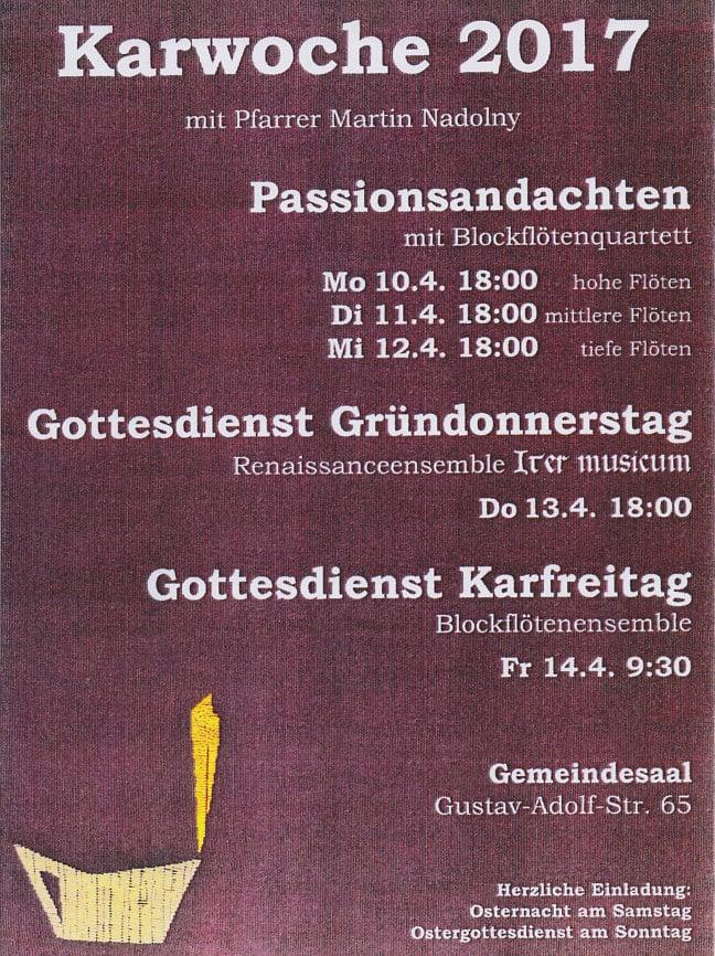 Musik in der Karwoche: Neudorf-West präsentiert ...