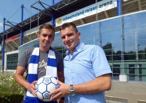 MSV-Torwarttrainer Marc Ernzer (links) mit Chef-Trainer Christian Franz-Pohlmann - Foto MSV Duisburg