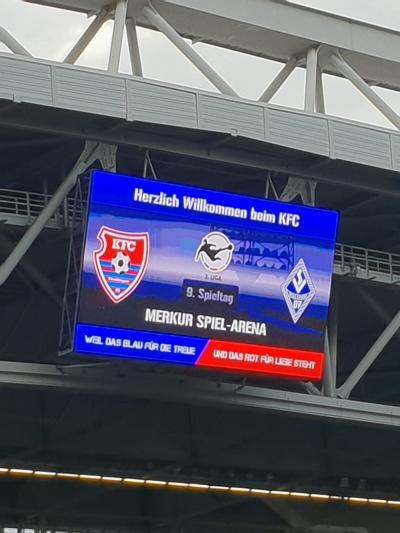 KFC Uerdingen - SV Waldhof Mannheim knapp zwei Jahre später findet das Duell erneut in Düsseldorf statt und nicht in Krefeld.