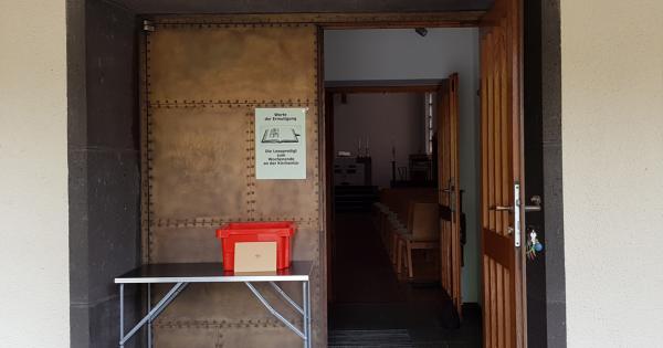 Die Kirchentür von Ungelsheim