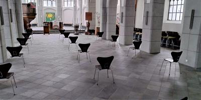 Corona-Sitzordnung in der Beecker Kirche